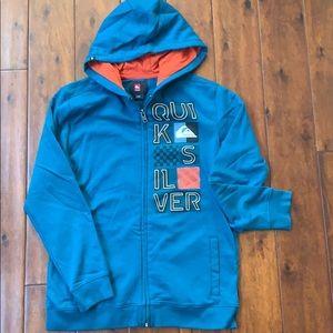 Quicksilver full zip boys hooded sweatshirt